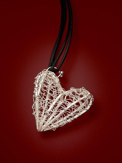 Crocheted Silver Heart