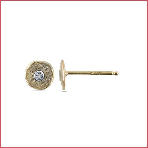 Gold & Diamond Spondylus Earrings