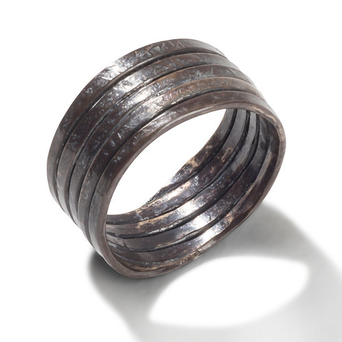Wide Forged Ring