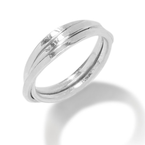 Forged Crossover Ring, Orbit in Silver
