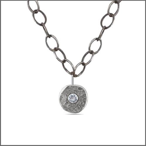 Silver & Diamond Single Spondylus Pendant