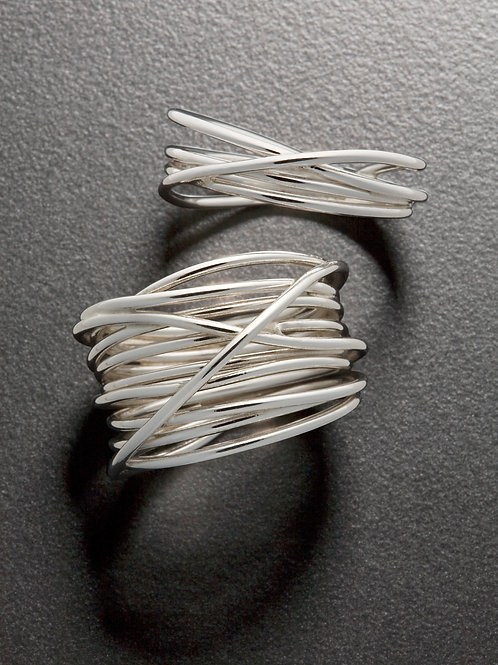 Silver Rings, Silver Wrap Rings, Lasso Ring
