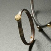 silver and gold, stacking ring, spondyllus