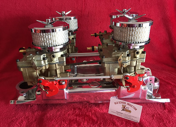 Polished Offy Pacesetter Manifold for a Small Block Chevy  265-283-327-350