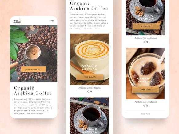 Coffee app concept design