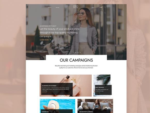 Marketing agency webdesign
