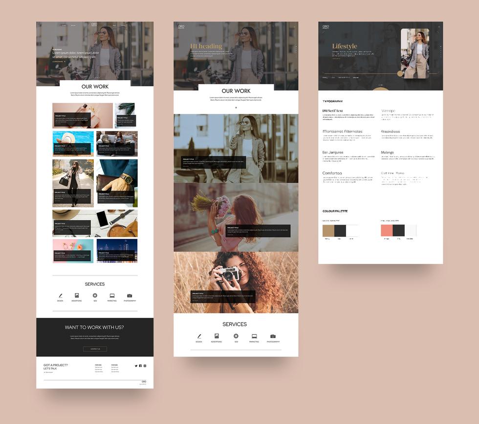Website design for a design and marketing agency