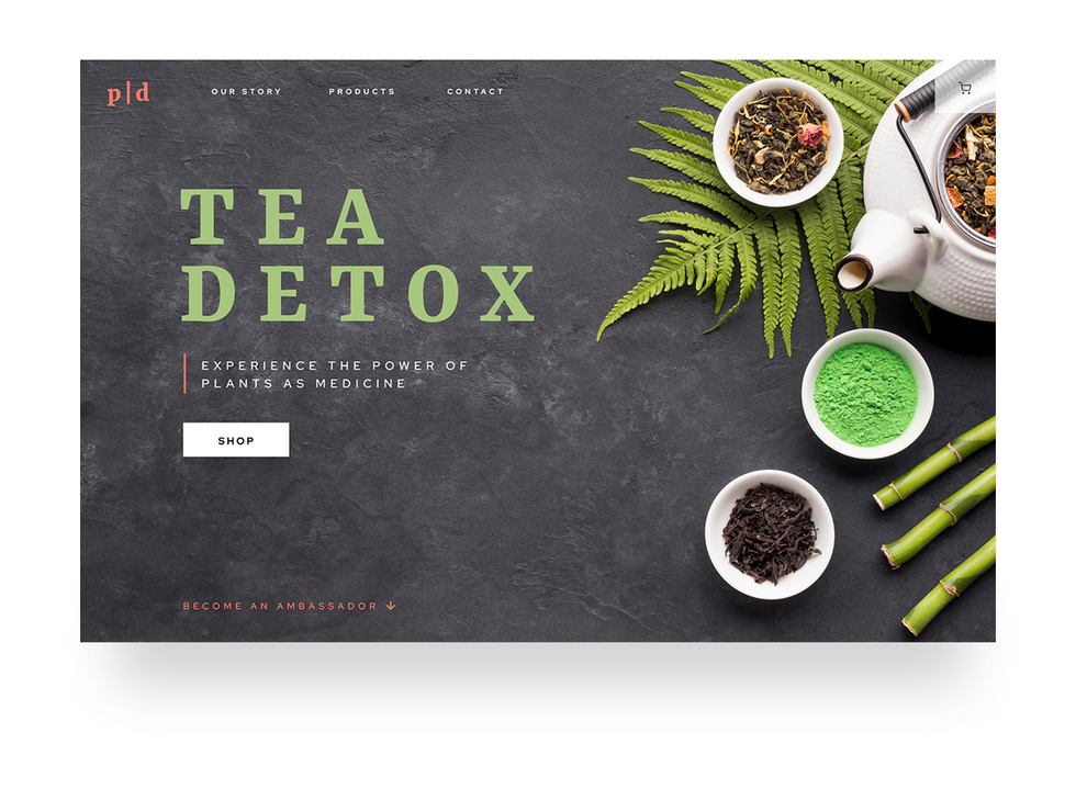 Tea detox website design