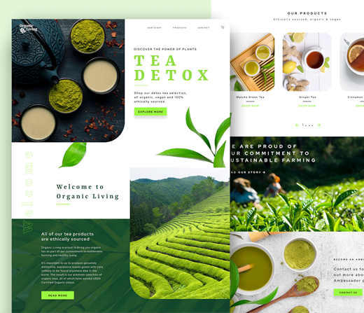 Tea Detox website UX/UI design