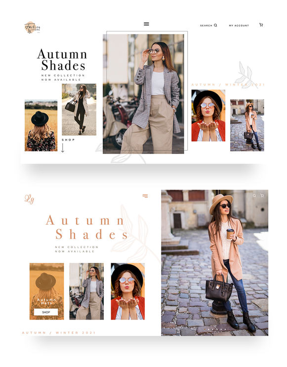 Fashion ecommerce landing pages