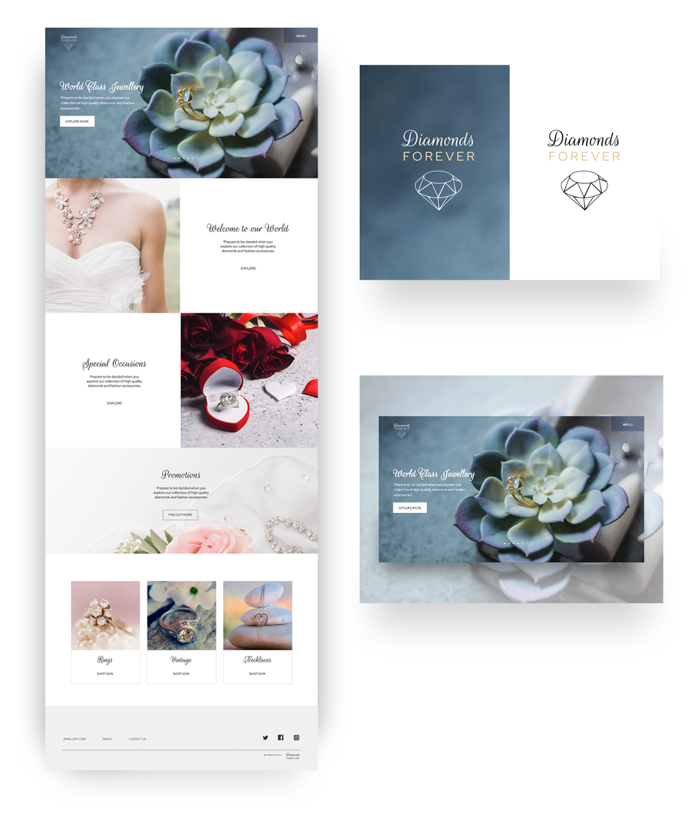 Jewellery store web design