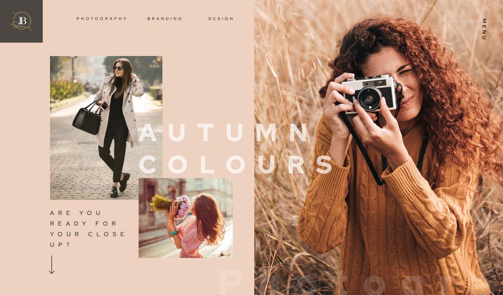 Fashion photography landing page