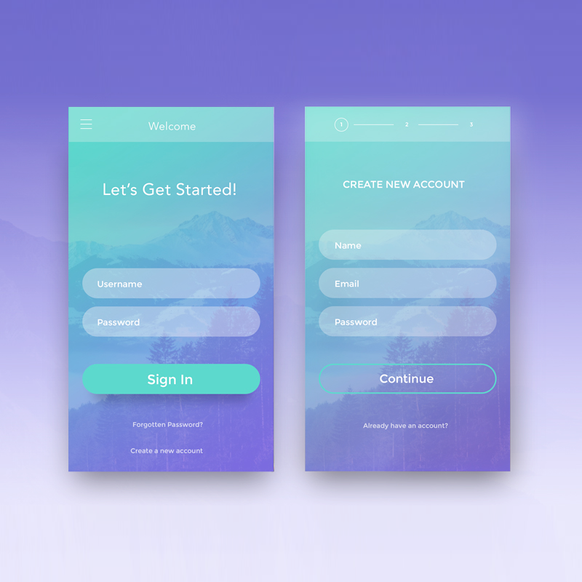 App login design concepts