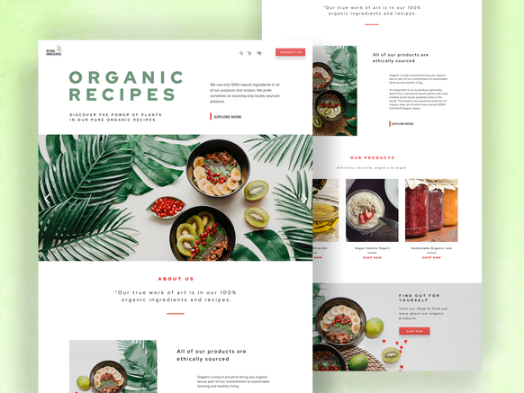 Ecommerce home page design