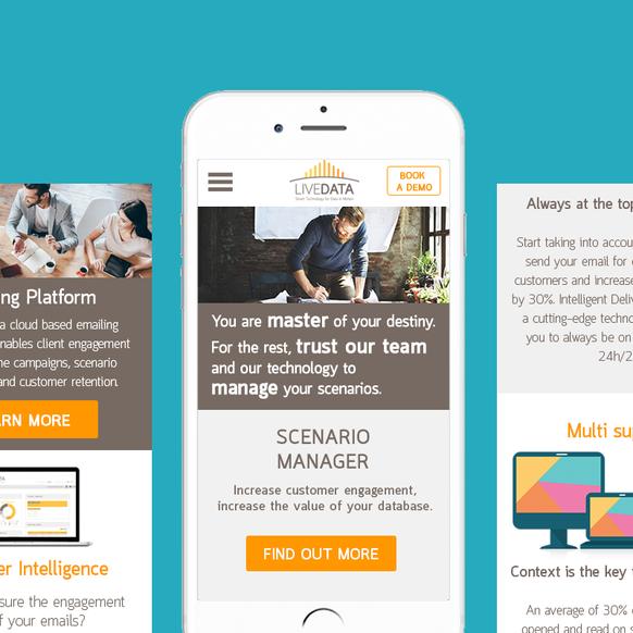 Responsive web design - LiveData