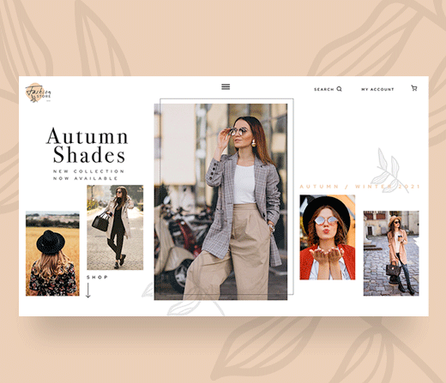Fashion Photography landing pages