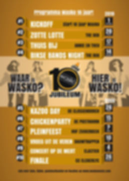 tourdata Wasko 10 jaar