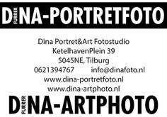 foto's met dank aan Dina-portretfoto
