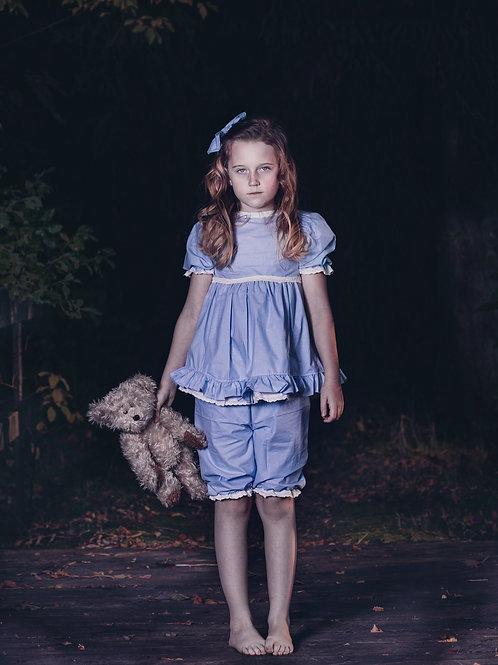 The girl with the teddy bear