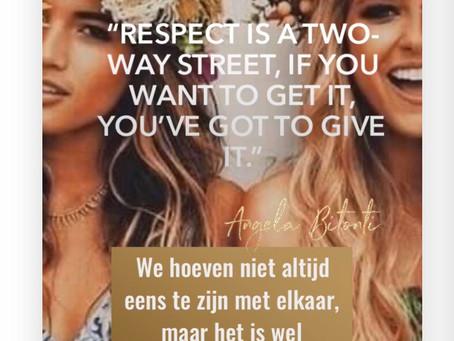 Respect tonen is een wisselwerking van energie.