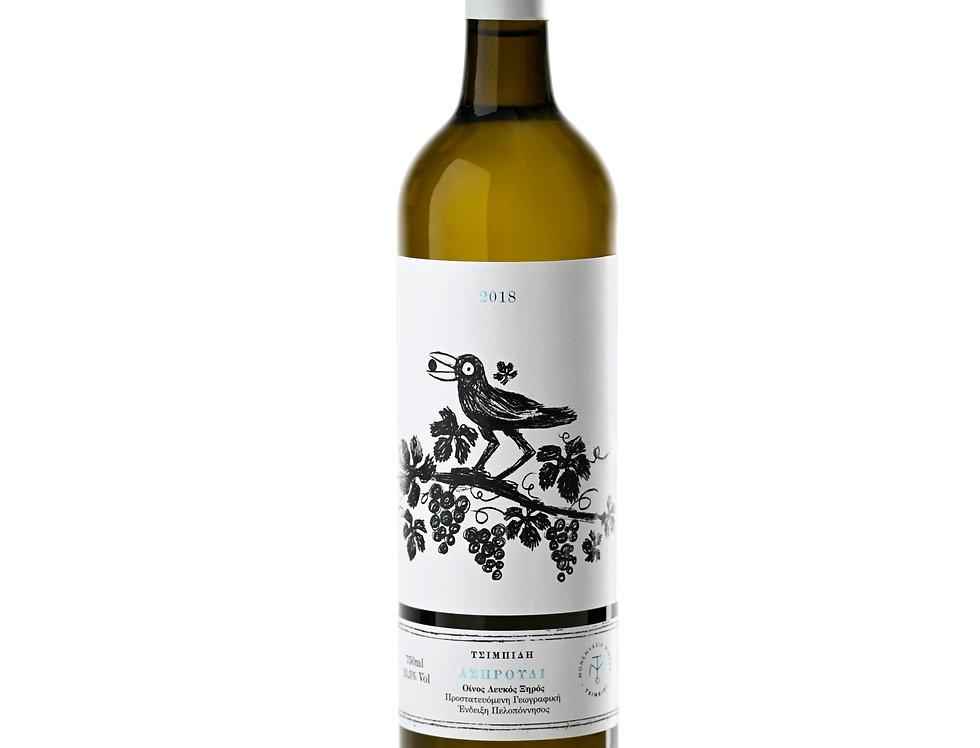Cartonx6 vin Asproudi 2018 75cl