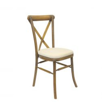 Crossback Chair with Cream Seat