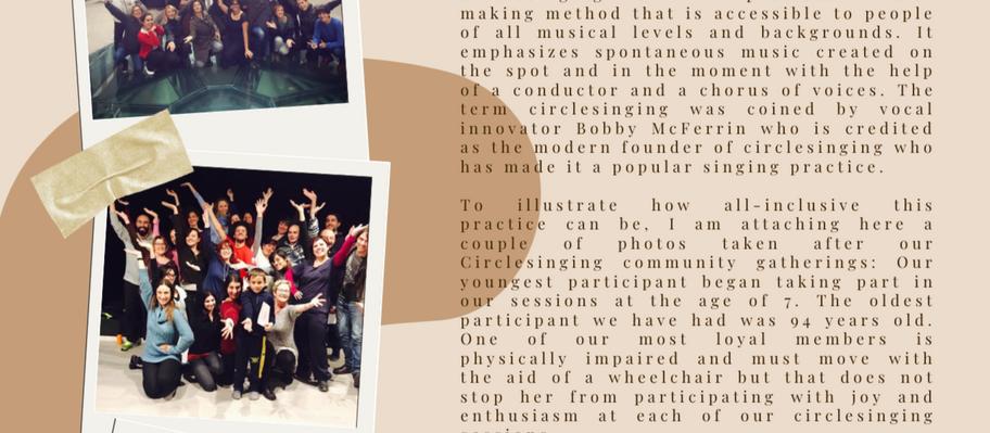 Why Circlesinging?