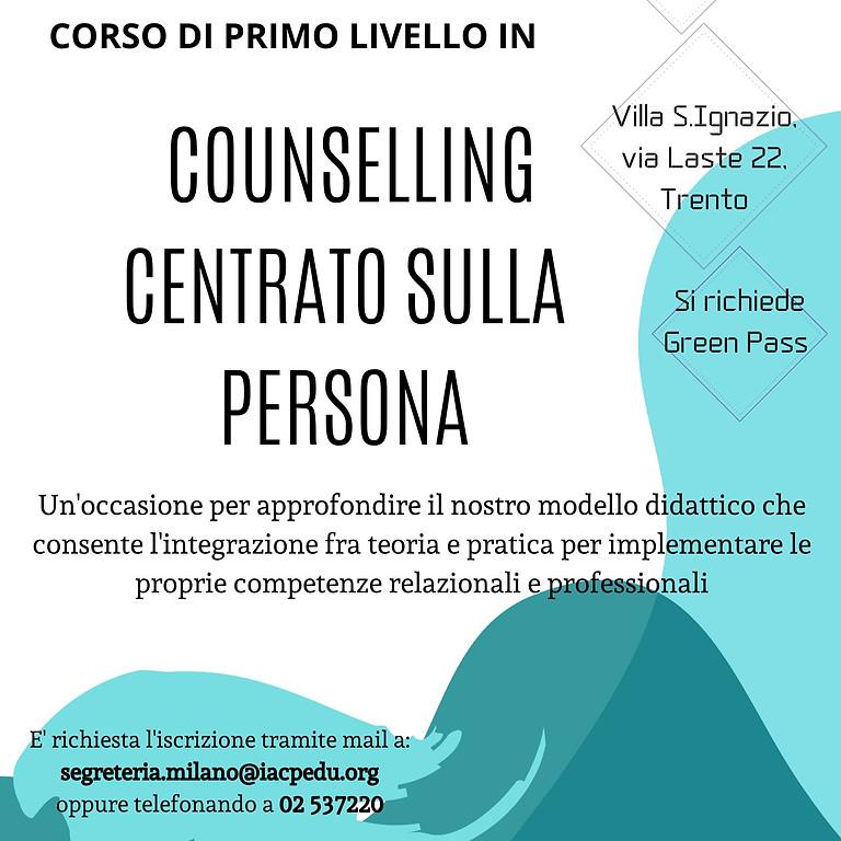Presentazione sede di Trento corso di primo livello in Counselling Centrato sulla Persona