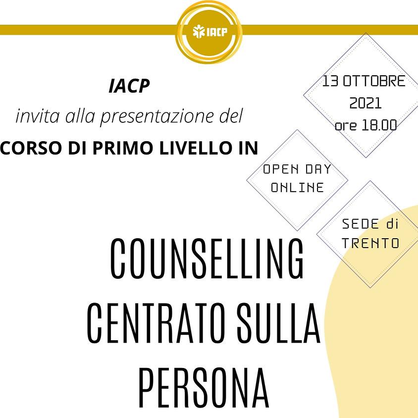 Open Day Corso di primo livello in Counselling Centrato sulla Persona SEDE DI TRENTO