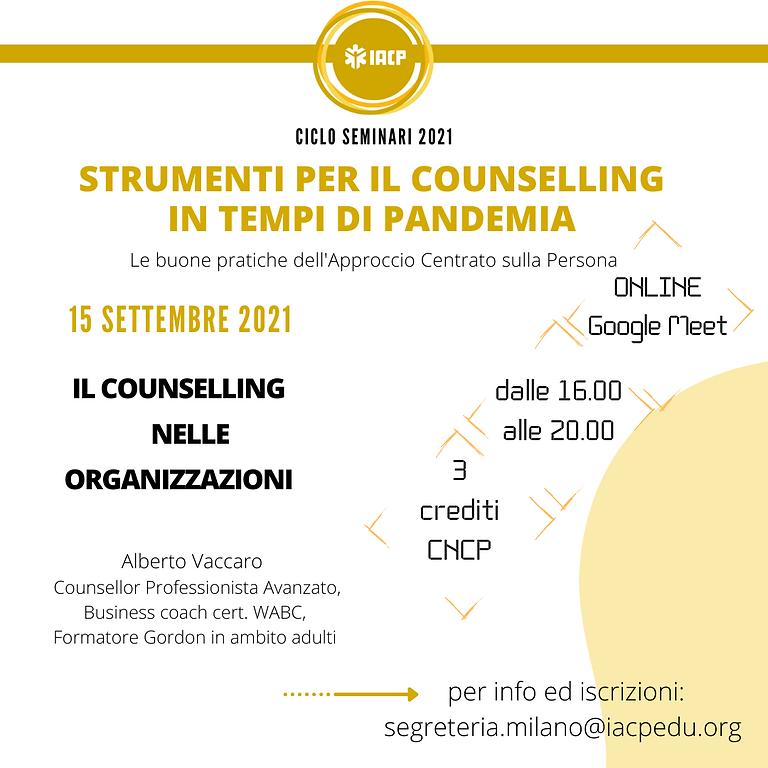 WEBINAR Il counselling nelle organizzazioni
