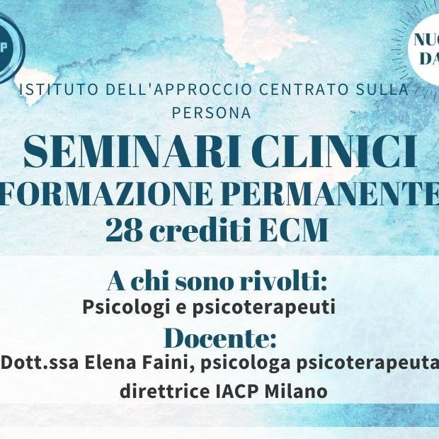 SEMINARI CLINICI FORMAZIONE PERMANENTE - sede di Milano