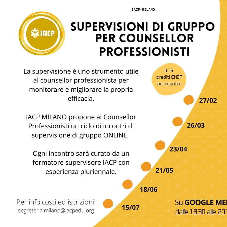 SUPERVISIONI PER COUNSELLOR PROFESSIONISTI (ONLINE)