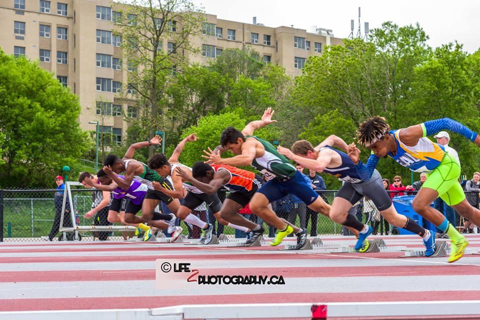 Senior Boys 100m semi-final at 2017 OFSAA West Regionals