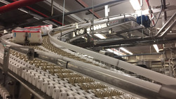 Stainless Washdown Spantech conveyor provided by MODO 8 at Dean Foods.