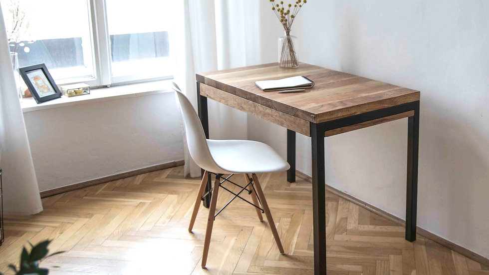 biurko dębowe LOFT