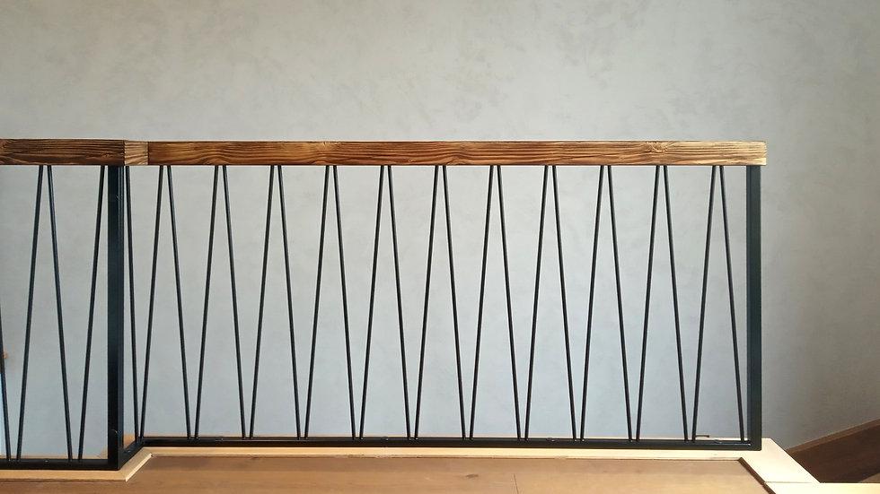 balustrada VVV z drewnem