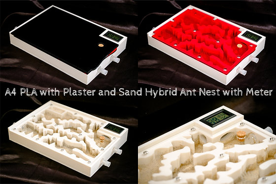 A4 PLA Ant Hybrid Nest with HT Meter Plaster and Sand Formicarium Farm