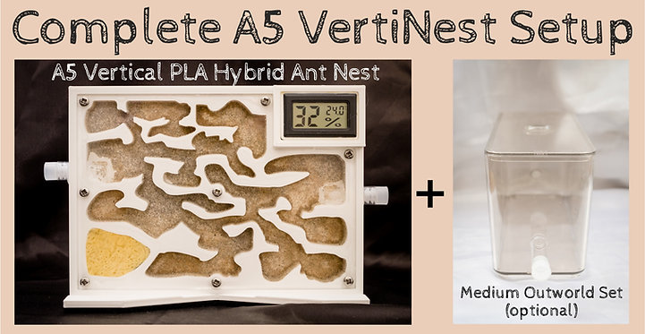 A5 Vertical Ant Nest with HT Meter and sand bed Hybrid Ant Nest Farm Formicarium