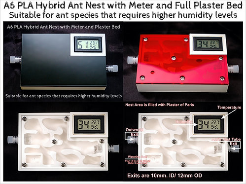 А6 PLA Ant Hybrid Nest with Meter and Plaster Ant Formicarium Farm House