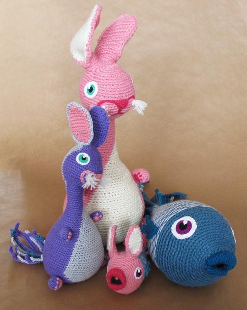 Lapin et poisson en crochet + bébés