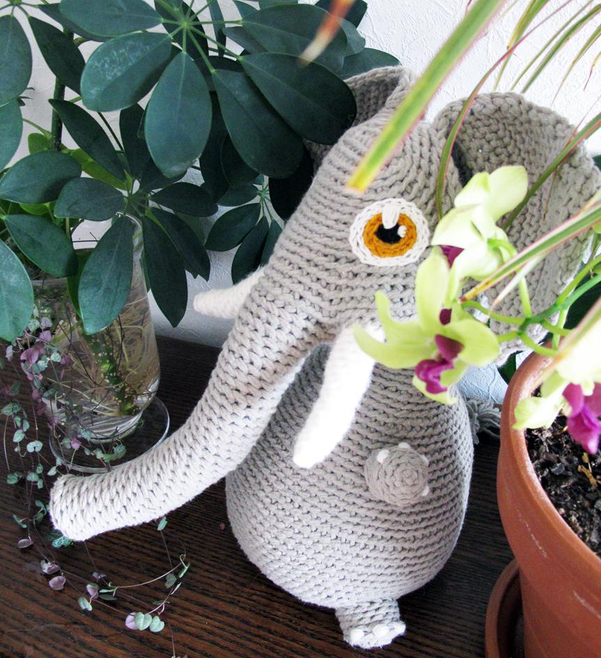 Eléphant en crochet