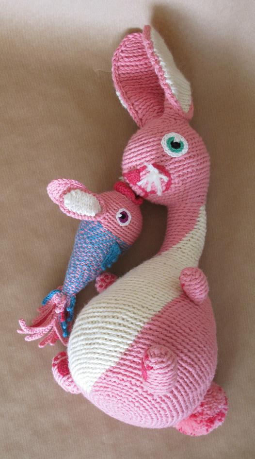 Lapin en crochet + bébé