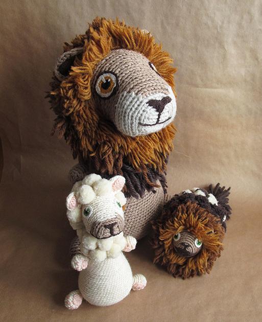 Lion en crochet + bébés