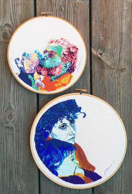 Portraits brodés
