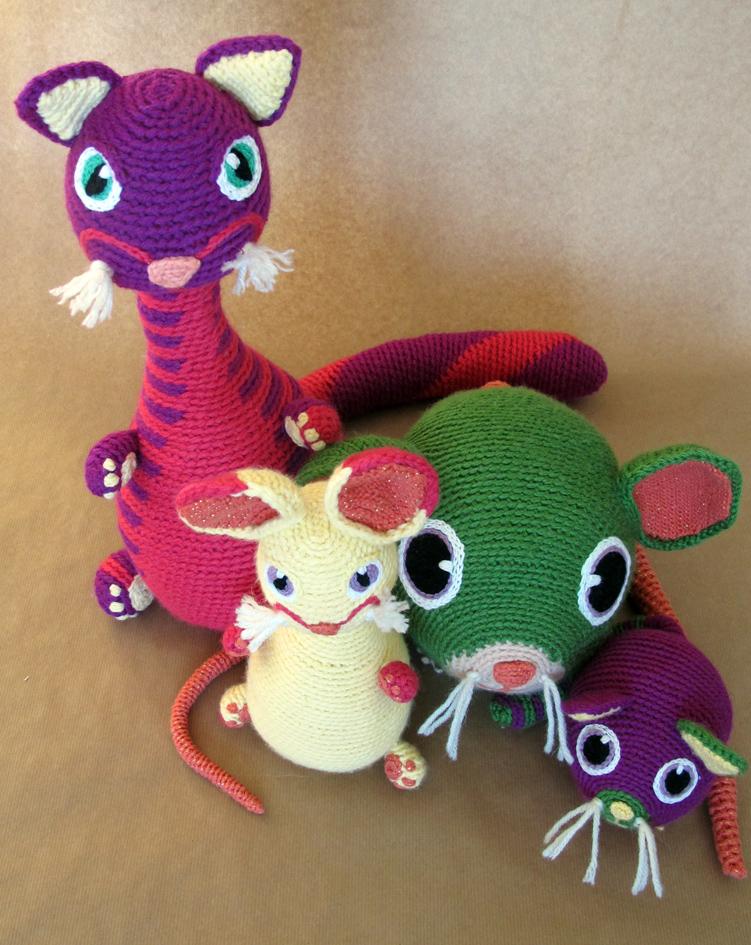 Chat et souris en crochet + bébés
