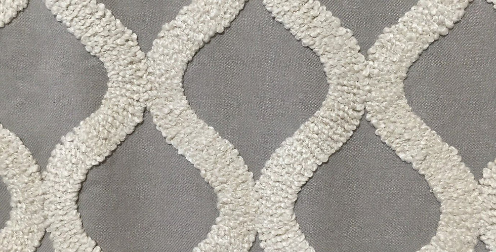 Sterling Gray - Cream Boucle Texture