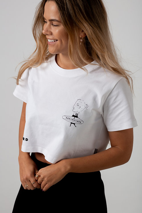 Hit The Waves Crop T-shirt