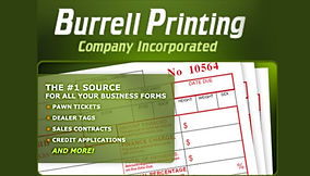Burrell printing logo
