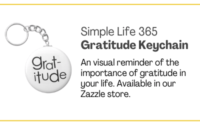 Gratitude Keychain available in the Simple Life 365 Zazzle store