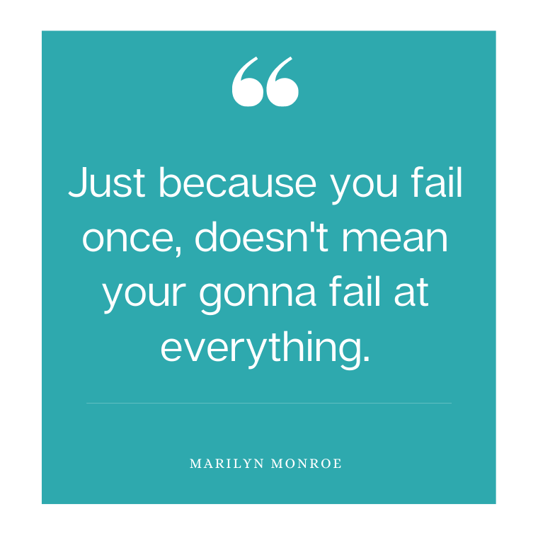 Quote on getting over failure
